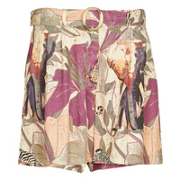 Textiel Dames Korte broeken / Bermuda's Desigual ETNICAN Multicolour