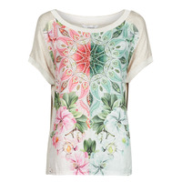 Textiel Dames T-shirts korte mouwen Desigual COPENHAGUE Wit