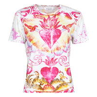 Textiel Dames T-shirts korte mouwen Desigual TATTOO Multicolour
