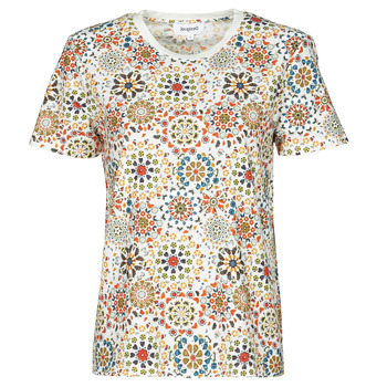 Textiel Dames T-shirts korte mouwen Desigual LYON Wit