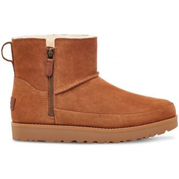 Schoenen Dames Enkellaarzen UGG W classic zip mini Bruin