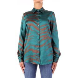 Textiel Dames Overhemden Vicolo TW0796 Verde/marrone