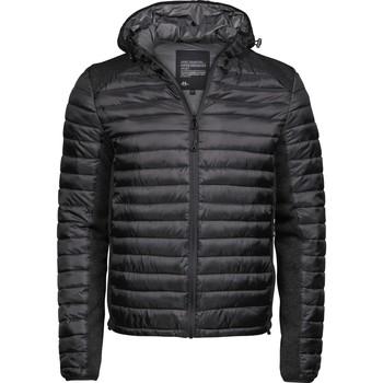 Textiel Heren Dons gevoerde jassen Tee Jays T9610 Zwart/Zwarte Melange