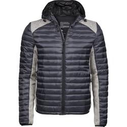 Textiel Heren Dons gevoerde jassen Tee Jays T9610 Ruimte Grijs/Grijs Melange