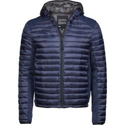 Textiel Heren Dons gevoerde jassen Tee Jays T9610 Marine / Navy Melange