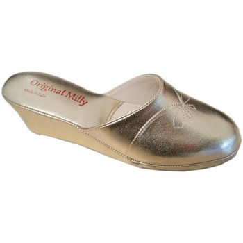 Schoenen Dames Leren slippers Milly MILLY3000oro nero