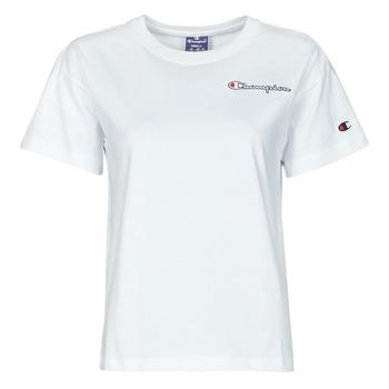 Textiel Dames T-shirts korte mouwen Champion 113090 Wit