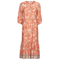 Textiel Dames Lange jurken Cream JOHUI DRESS Oranje