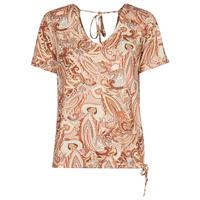 Textiel Dames T-shirts korte mouwen Cream LULLA TSHIRT Multi
