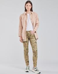 Textiel Dames 5 zakken broeken Cream LOTTE PRINTED Multi