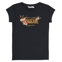 Textiel Meisjes T-shirts korte mouwen Kaporal ELISA Zwart