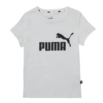 Textiel Meisjes T-shirts korte mouwen Puma ESS TEE Wit