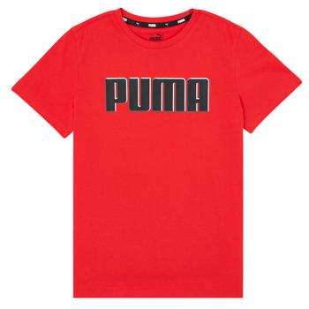 Textiel Jongens T-shirts korte mouwen Puma ALPHA GRAF TEE Rood