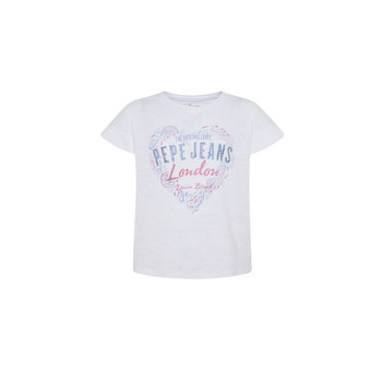 Textiel Meisjes T-shirts korte mouwen Pepe jeans PIPER Wit