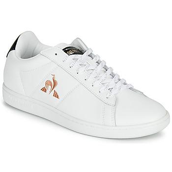 Schoenen Dames Lage sneakers Le Coq Sportif COURTSET Wit / Zwart