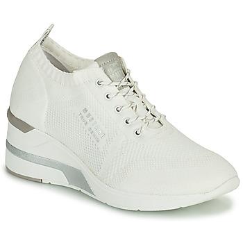 Schoenen Dames Hoge sneakers Mustang THALIA Wit