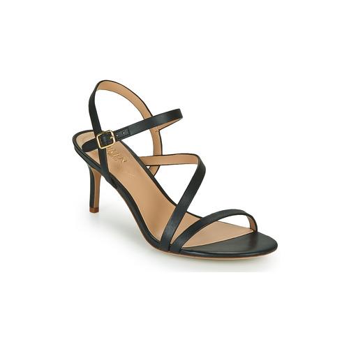 Schoenen Dames Sandalen / Open schoenen Lauren Ralph Lauren LANDYN Zwart