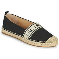 Schoenen Dames Espadrilles Lauren Ralph Lauren CAYLEE Zwart