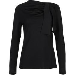 Textiel Dames Tops / Blousjes Lisca Topje met lange mouwen Giselle zwart Parelmoer Zwart