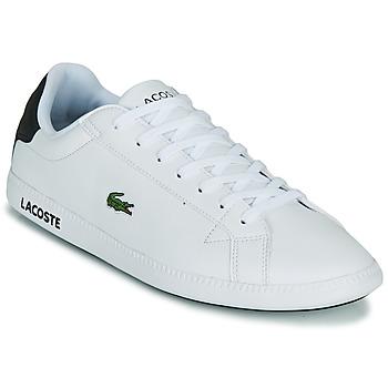 Schoenen Heren Lage sneakers Lacoste GRADUATE 0120 2 SMA Wit / Zwart