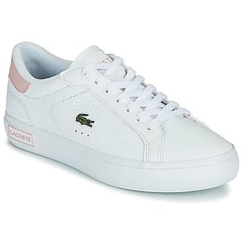 Schoenen Dames Lage sneakers Lacoste POWERCOURT 0721 2 SFA Wit / Roze