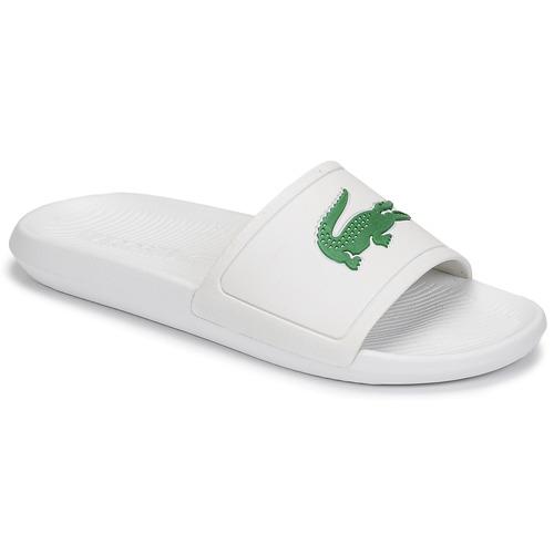 Schoenen Heren slippers Lacoste CROCO SLIDE 119 1 CMA Wit / Groen