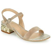 Schoenen Dames Sandalen / Open schoenen Perlato 11817-CAM-FREJE-STONE Beige / Goud