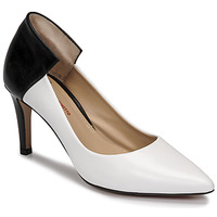 Schoenen Dames pumps Perlato 11764-VENUS-BLANC-JAMAICA-NOIR Wit / Zwart