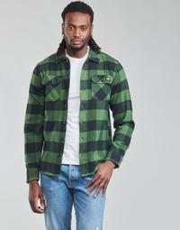 Textiel Heren Overhemden lange mouwen Dickies NEW SACRAMENTO SHIRT PINE GREEN Kaki / Zwart