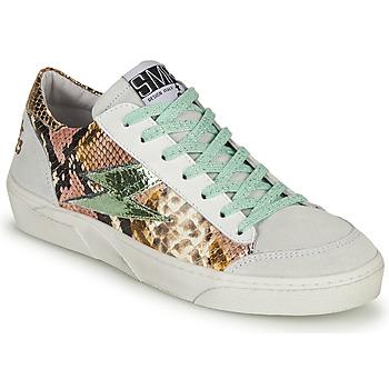 Schoenen Dames Lage sneakers Semerdjian ELISE Wit / Bruin