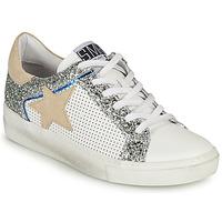 Schoenen Dames Lage sneakers Semerdjian CARLA Wit / Zilver / Beige