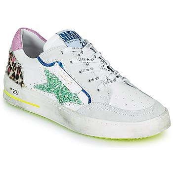 Schoenen Dames Lage sneakers Semerdjian ARTO Wit / Grijs / Blauw