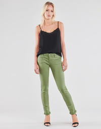 Textiel Dames 5 zakken broeken Freeman T.Porter ALEXA SLIM NEW MAGIC COLOR Groen
