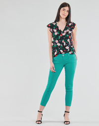 Textiel Dames 5 zakken broeken Freeman T.Porter ALEXA CROPPED NEW MAGIC COLOR Groen
