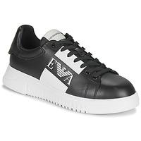 Schoenen Heren Lage sneakers Emporio Armani MALTA Zwart / Wit