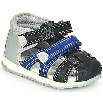 Schoenen Jongens Sandalen / Open schoenen Chicco GABRIEL Blauw / Grijs