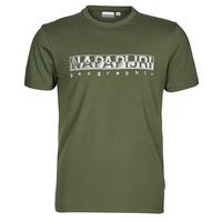 Textiel Heren T-shirts korte mouwen Napapijri SALLAR SS Groen