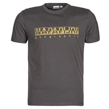 Textiel Heren T-shirts korte mouwen Napapijri SALLAR SS Grijs / Donker