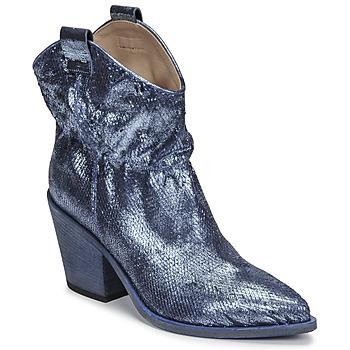 Schoenen Dames Enkellaarzen Fru.it 6901-376-BLUE Blauw