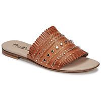 Schoenen Dames Leren slippers Fru.it 6765-100-CUOIO Bruin