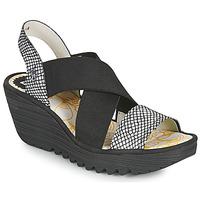 Schoenen Dames Sandalen / Open schoenen Fly London YAJI Zwart / Wit