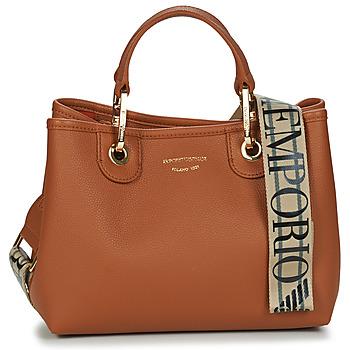 Tassen Dames Handtassen kort hengsel Emporio Armani BORSA SHOPPING Bruin