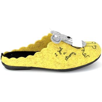 Schoenen Sloffen La Maison De L'espadrille Mule Souris Jaune Geel