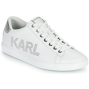 Schoenen Dames Lage sneakers Karl Lagerfeld KUPSOLE II KARL PUNKT LOGO LO Wit