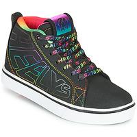 Schoenen Meisjes Schoenen met wieltjes Heelys RACER 20 MID Zwart / Multicolour
