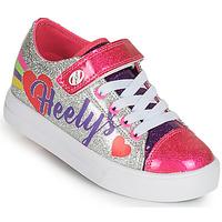 Schoenen Meisjes Schoenen met wieltjes Heelys SNAZZY X2 Zilver / Multicolour