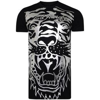Textiel Heren T-shirts korte mouwen Ed Hardy - Big-tiger t-shirt Zwart