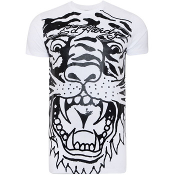 Textiel Heren T-shirts korte mouwen Ed Hardy - Big-tiger t-shirt Wit