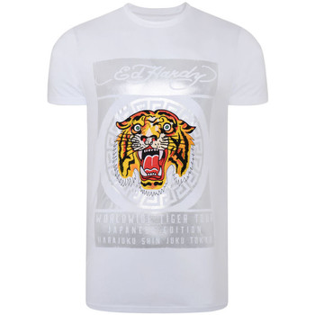Textiel Heren T-shirts korte mouwen Ed Hardy - Tile-roar t-shirt Wit