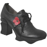 Schoenen Dames Derby Laura Vita Arcmanceo 34 Zwart / rood leer